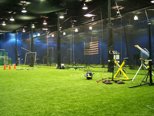 Netservices golf netting golf netting installation for Design indoor baseball facility